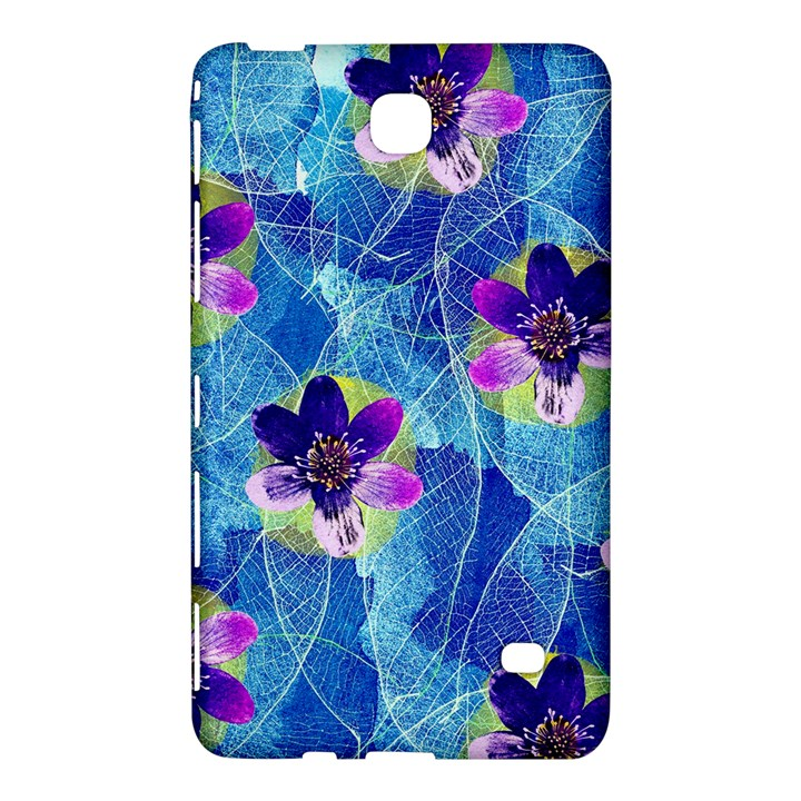 Purple Flowers Samsung Galaxy Tab 4 (8 ) Hardshell Case
