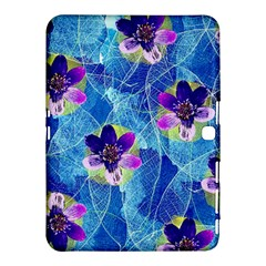 Purple Flowers Samsung Galaxy Tab 4 (10.1 ) Hardshell Case