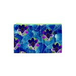 Purple Flowers Cosmetic Bag (XS) Front