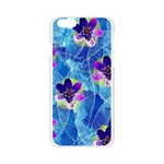 Purple Flowers Apple Seamless iPhone 6/6S Case (Transparent) Front