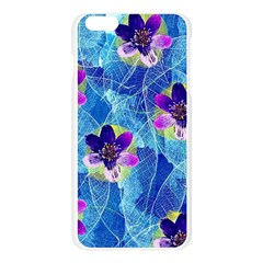 Purple Flowers Apple Seamless iPhone 6 Plus/6S Plus Case (Transparent)