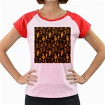 Christmas Background Women s Cap Sleeve T-Shirt Front