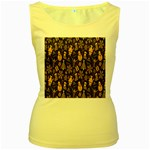 Christmas Background Women s Yellow Tank Top Front