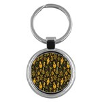 Christmas Background Key Chains (Round)  Front