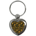 Christmas Background Key Chains (Heart)  Front