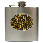 Christmas Background Hip Flask (6 oz) Front