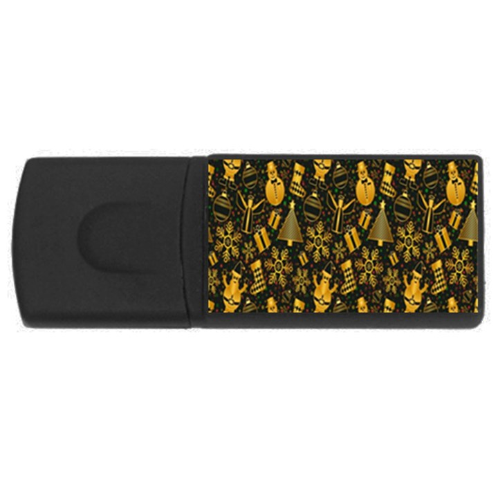 Christmas Background USB Flash Drive Rectangular (2 GB)