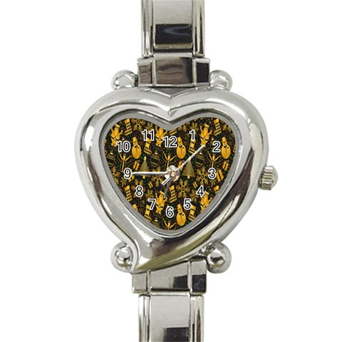 Christmas Background Heart Italian Charm Watch