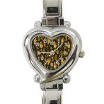 Christmas Background Heart Italian Charm Watch Front