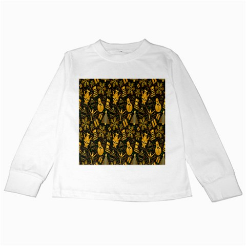 Christmas Background Kids Long Sleeve T-Shirts
