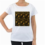 Christmas Background Women s Loose-Fit T-Shirt (White) Front