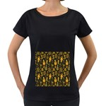Christmas Background Women s Loose-Fit T-Shirt (Black) Front
