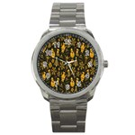 Christmas Background Sport Metal Watch Front