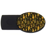 Christmas Background USB Flash Drive Oval (4 GB)  Front