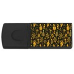 Christmas Background USB Flash Drive Rectangular (4 GB)  Front