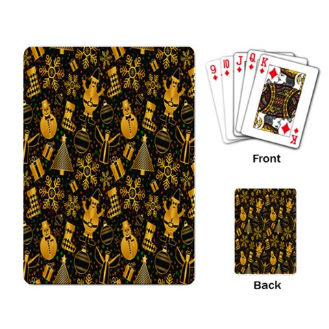 Christmas Background Playing Card