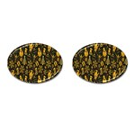 Christmas Background Cufflinks (Oval) Front