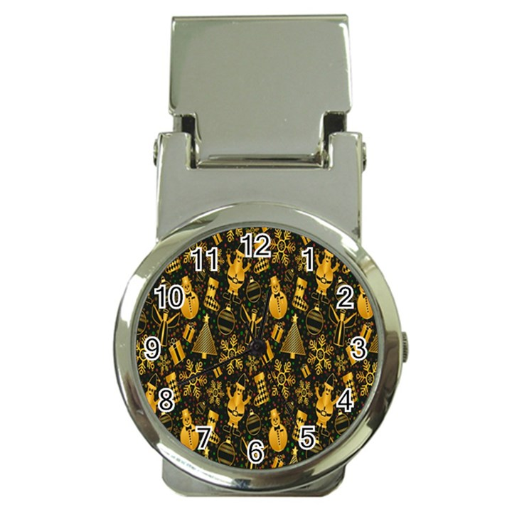 Christmas Background Money Clip Watches