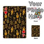 Christmas Background Playing Cards 54 Designs  Front - Heart4