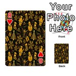 Christmas Background Playing Cards 54 Designs  Front - Heart8