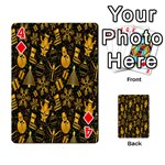 Christmas Background Playing Cards 54 Designs  Front - Diamond4