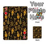 Christmas Background Playing Cards 54 Designs  Front - Diamond7