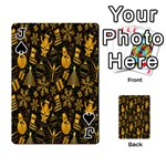 Christmas Background Playing Cards 54 Designs  Front - SpadeJ