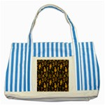 Christmas Background Striped Blue Tote Bag Front