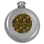 Christmas Background Round Hip Flask (5 oz) Front