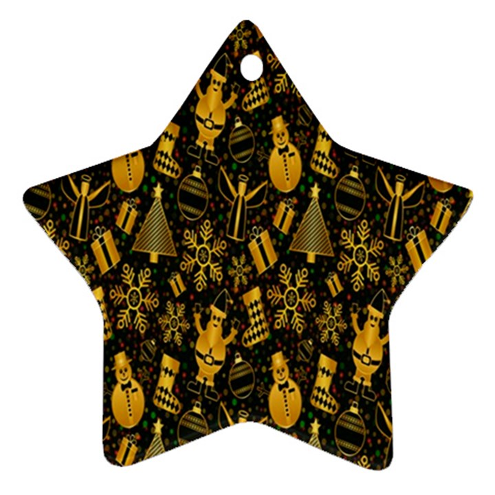 Christmas Background Star Ornament (Two Sides)