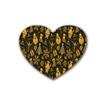Christmas Background Heart Coaster (4 pack)  Front