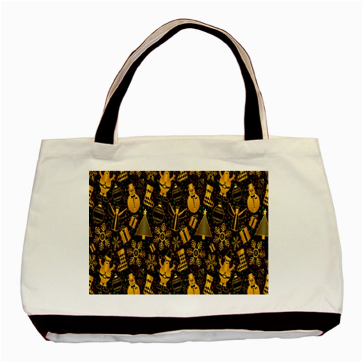 Christmas Background Basic Tote Bag (Two Sides)