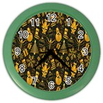Christmas Background Color Wall Clocks Front