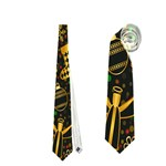 Christmas Background Neckties (One Side)  Front