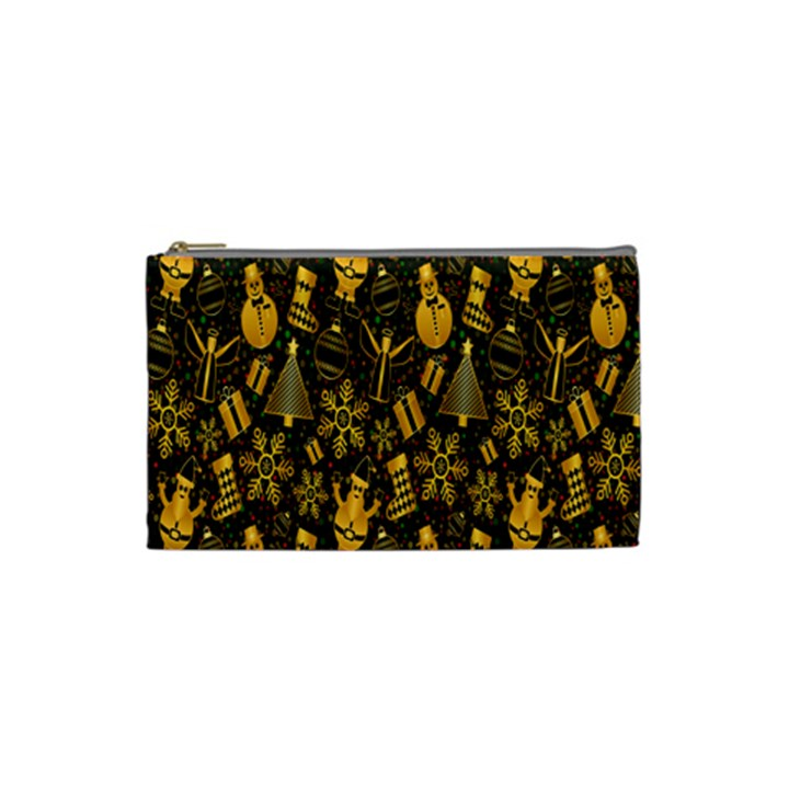 Christmas Background Cosmetic Bag (Small)