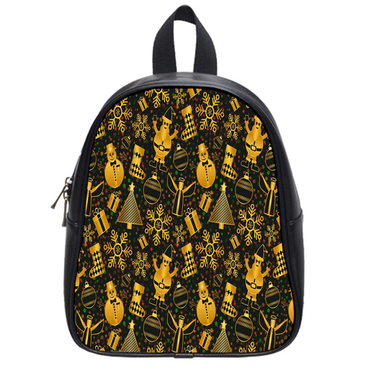Christmas Background School Bags (Small)