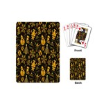 Christmas Background Playing Cards (Mini)  Back