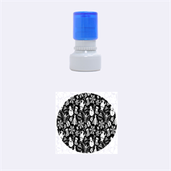 Christmas Background Rubber Round Stamps (Small)