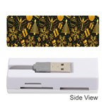 Christmas Background Memory Card Reader (Stick)  Front