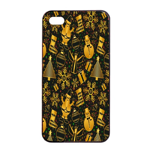 Christmas Background Apple iPhone 4/4s Seamless Case (Black)