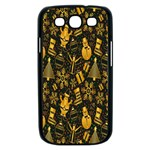 Christmas Background Samsung Galaxy S III Case (Black) Front