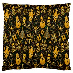 Christmas Background Large Cushion Case (Two Sides)