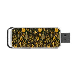 Christmas Background Portable USB Flash (Two Sides)