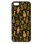 Christmas Background Apple iPhone 5 Seamless Case (Black) Front