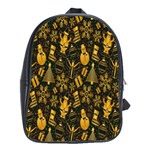 Christmas Background School Bags (XL)  Front