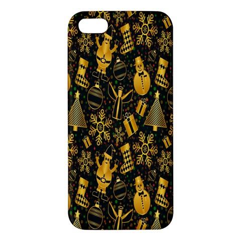 Christmas Background iPhone 5S/ SE Premium Hardshell Case