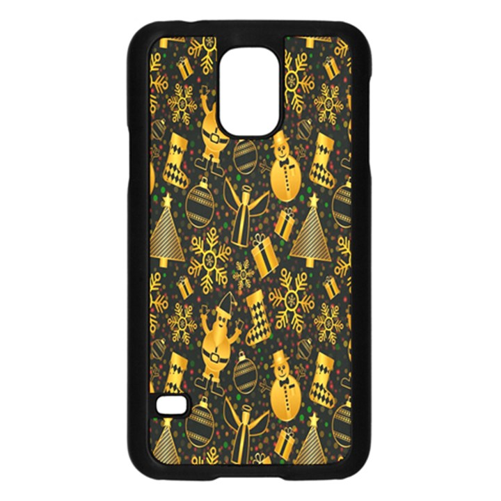 Christmas Background Samsung Galaxy S5 Case (Black)