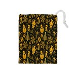 Christmas Background Drawstring Pouches (Medium)  Front
