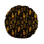 Christmas Background Standard 15  Premium Flano Round Cushions Front