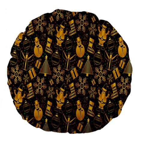 Christmas Background Large 18  Premium Flano Round Cushions